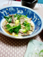 ニワトリのトサカの中華炒め画像