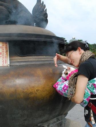 smoke in the zenko-ji