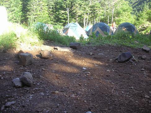 ココでテントを・・