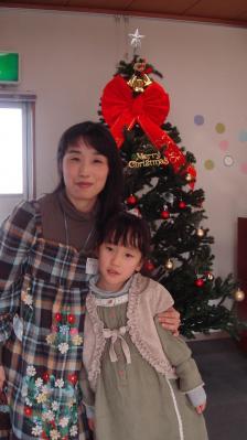 2010年クリスマス会 のんと母