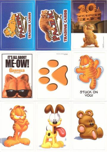 Garfield Stickers 1-9