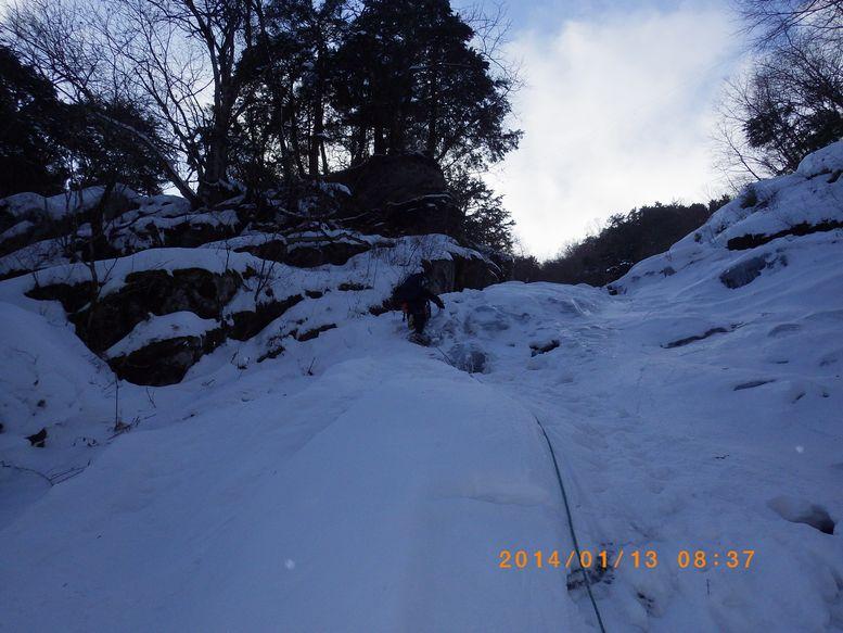 2日目最初の氷瀑