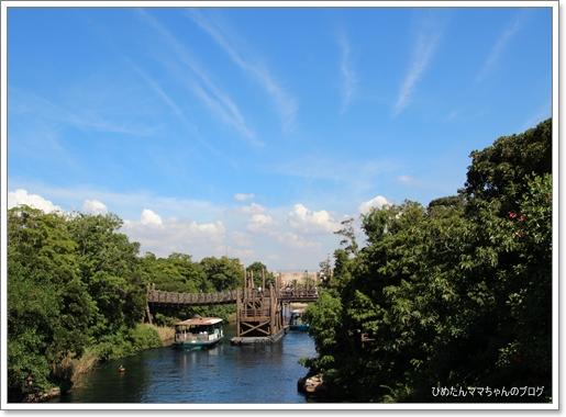 ロストリバーデルタへ渡る橋の上~ヾ(@^▽^@)ノ
