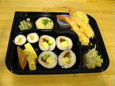 巻き寿司とてんぷら弁当