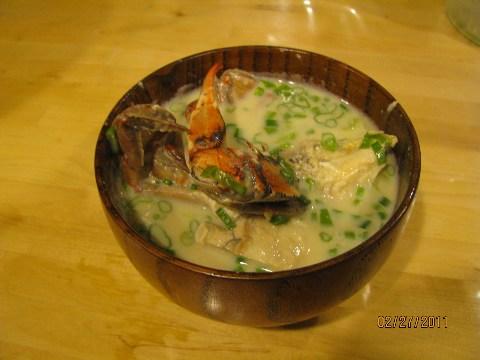豆乳シーフードスープ