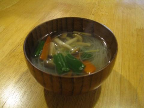 鯛の春雨スープ