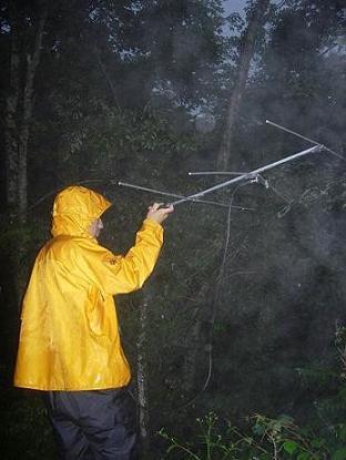 服部さん雨の中テレメトリー