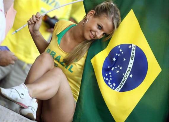 ブラジルのサポーター
