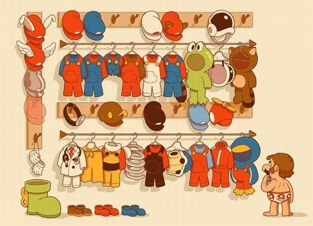 今日はどの服に?