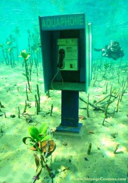 水中公衆電話
