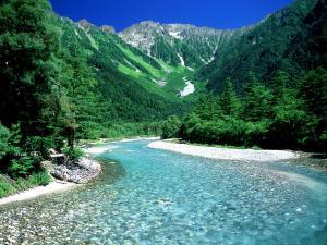 田舎の河原