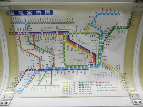 国電案内図@鉄道博物館