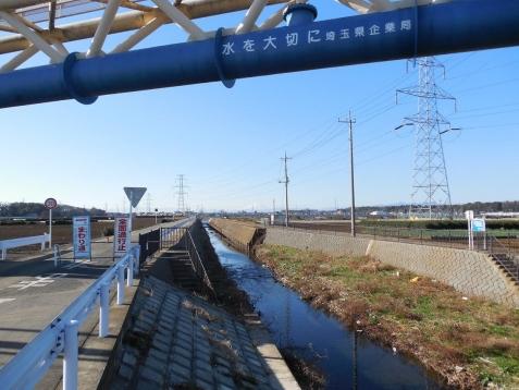 不老川の草刈橋の上から見た富士山@狭山市A