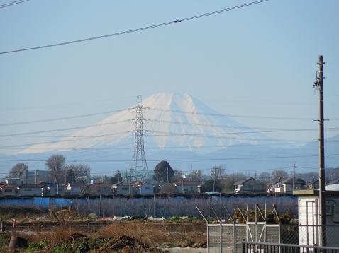 不老川の草刈橋の上から見た富士山@狭山市B