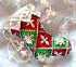 クリスマスソックスのブローチ