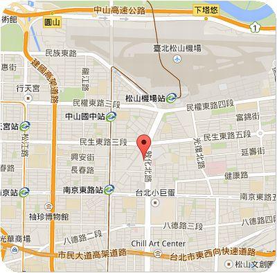 マンダリン台北地図