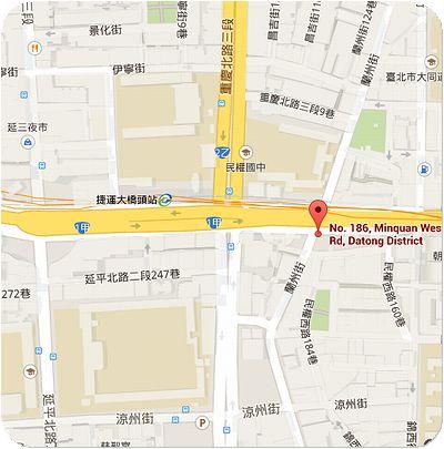 大橋頭油飯地図