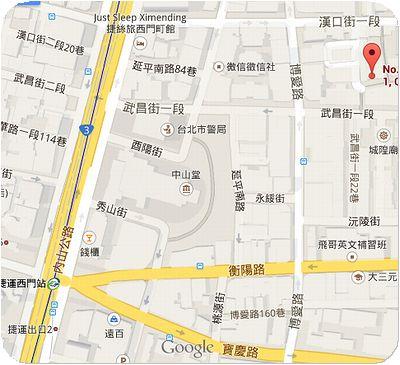 老牌牛肉拉麺大王地図