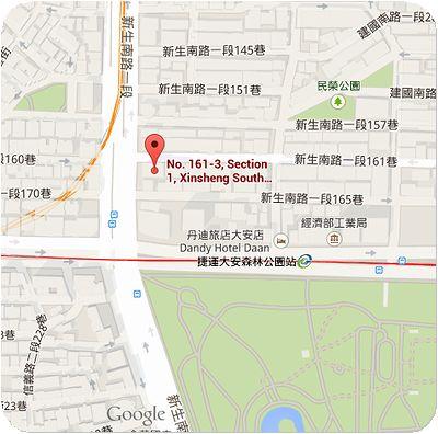 大安森林食堂地図