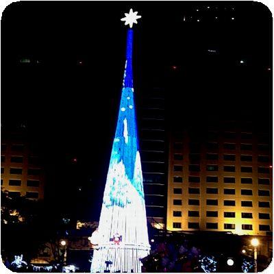 新北市歡樂耶誕城ツリー模様