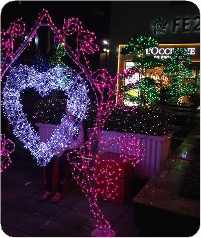 新北市歡樂耶誕城ハート