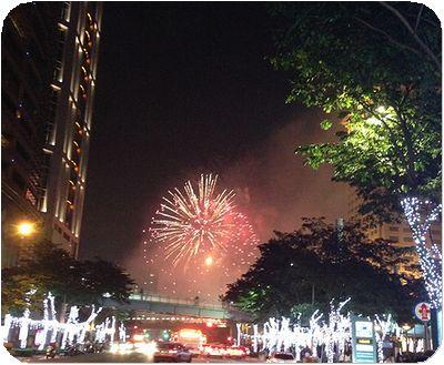新北市歡樂耶誕城花火