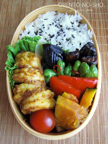 海老のタンドリー風と夏野菜の揚げ浸し弁当02