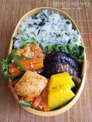 鶏と野菜のピリ辛炒め弁当02