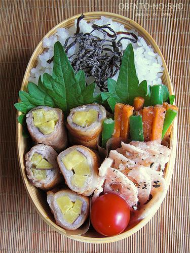 さつま芋の豚肉巻き弁当02