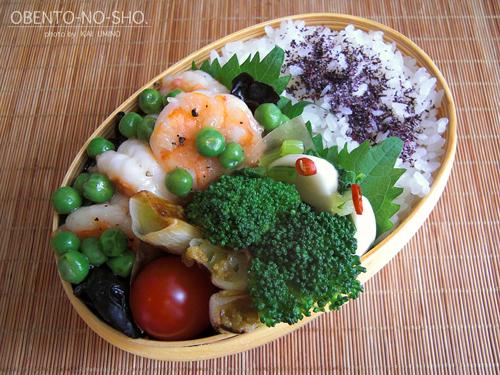 海老とグリーンピースの塩炒め弁当01