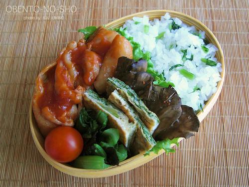 鶏のケチャップ煮弁当01