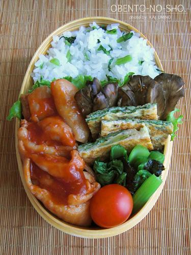 鶏のケチャップ煮弁当02