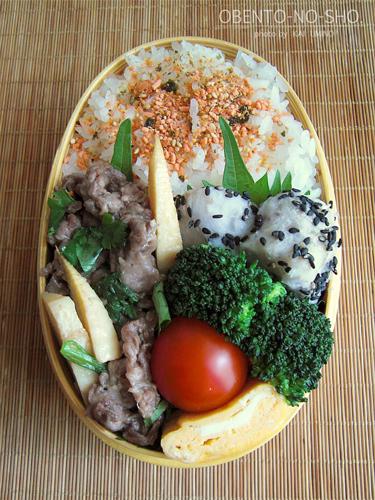 牛肉と筍のエスニック炒め弁当01