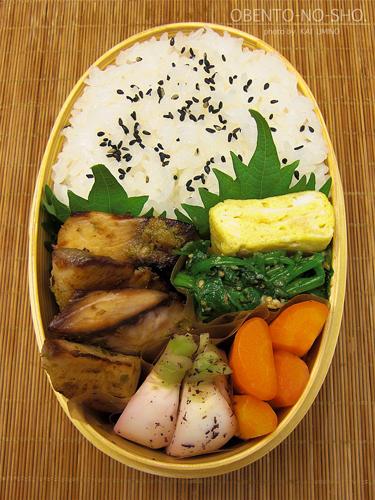 鰤の柚胡椒焼き弁当02