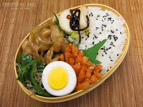 タモさん流生姜焼きカレー風味ver弁当01
