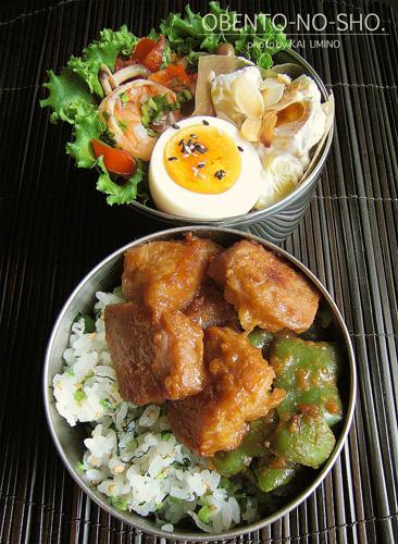 豚の味噌漬けと小松菜ご飯03