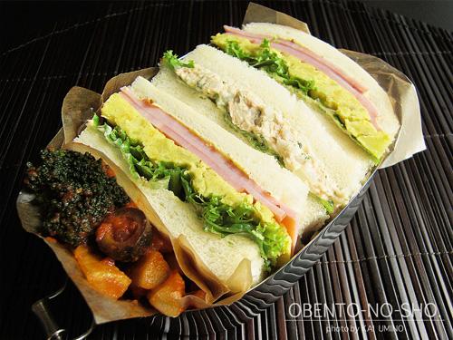さつま芋のピュレとハムのサンドイッチ01