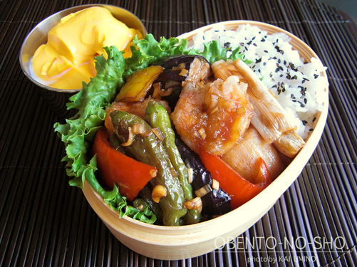 海老と揚げ野菜の香味だれ弁当01