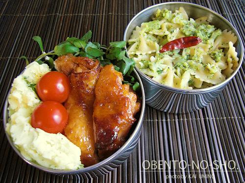 鶏のマーマレード焼き&ファルファッレのブロッコリーソース弁当02