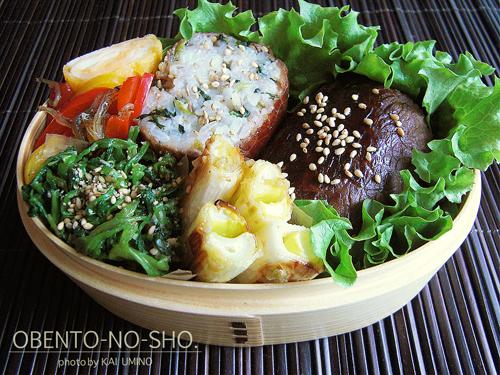 小松菜ご飯の肉巻きおにぎり弁当02
