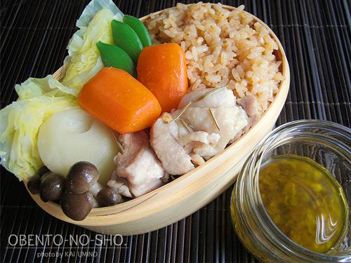 蒸し鶏と温野菜弁当01