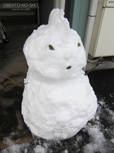 ブサカワ雪だるま