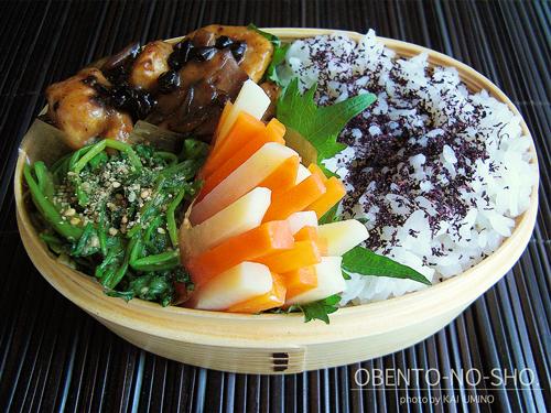 鶏ささみと舞茸の豆豉炒め弁当02