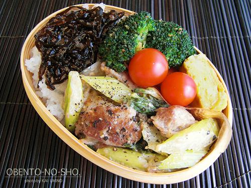 豚肉とセロリのマヨ炒め弁当01