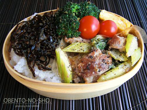 豚肉とセロリのマヨ炒め弁当02