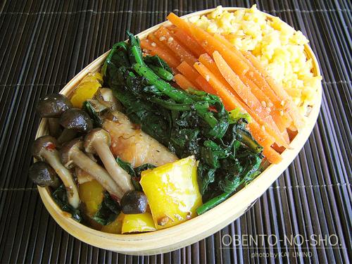 鶏のバジル&チリソース炒め弁当01