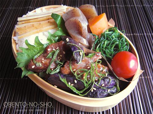 茄子と豚肉のオイスター炒め弁当01