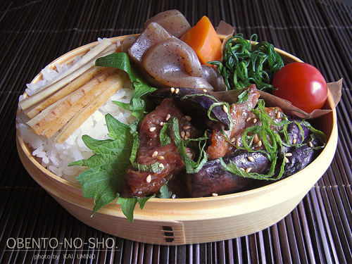 茄子と豚肉のオイスター炒め弁当02