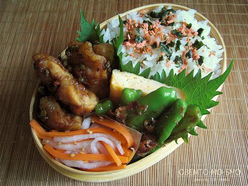 鶏の青山椒焼き弁当01