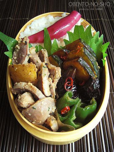 砂肝の塩麹炒め弁当02